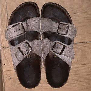 Well worn Birkenstock's